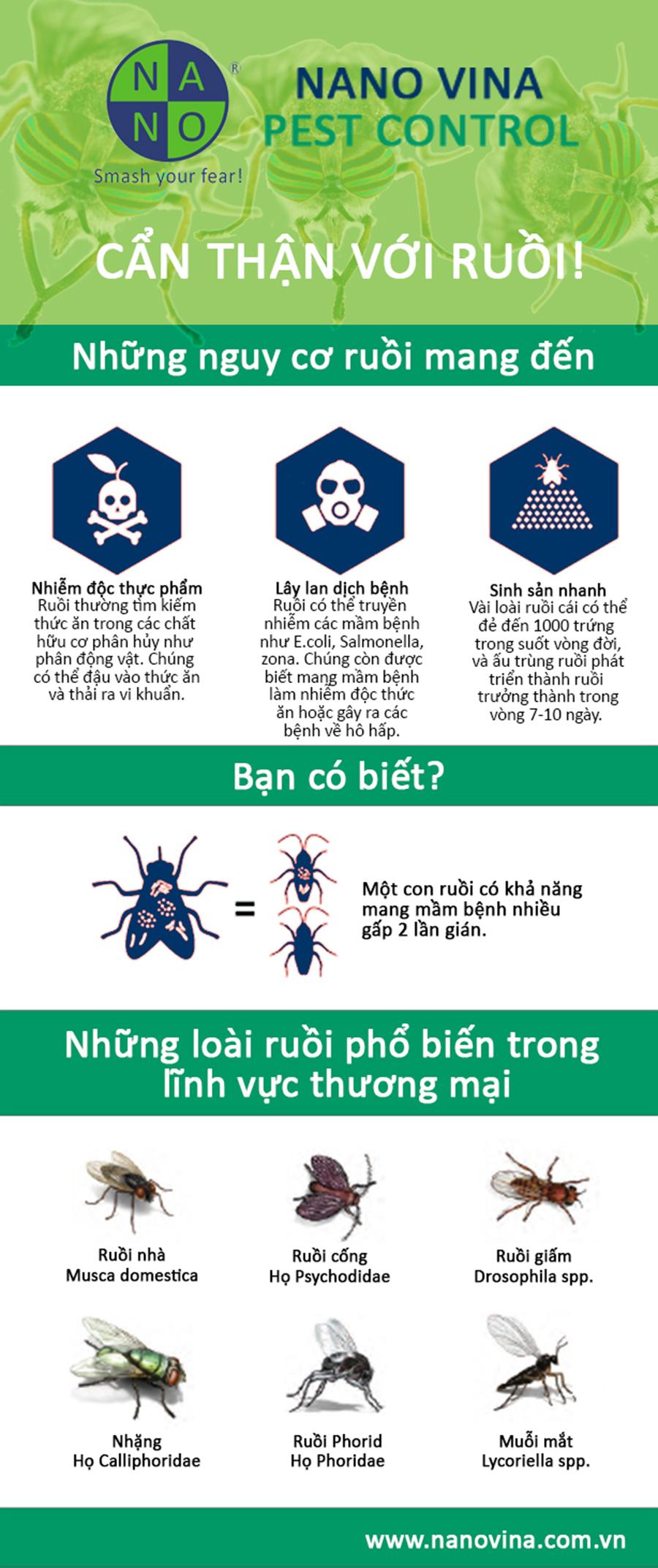 Cẩn thận với ruồi